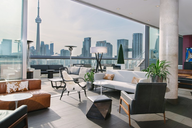 Thompson Toronto Rooftop Lounge is one of the more upscale spots on this list