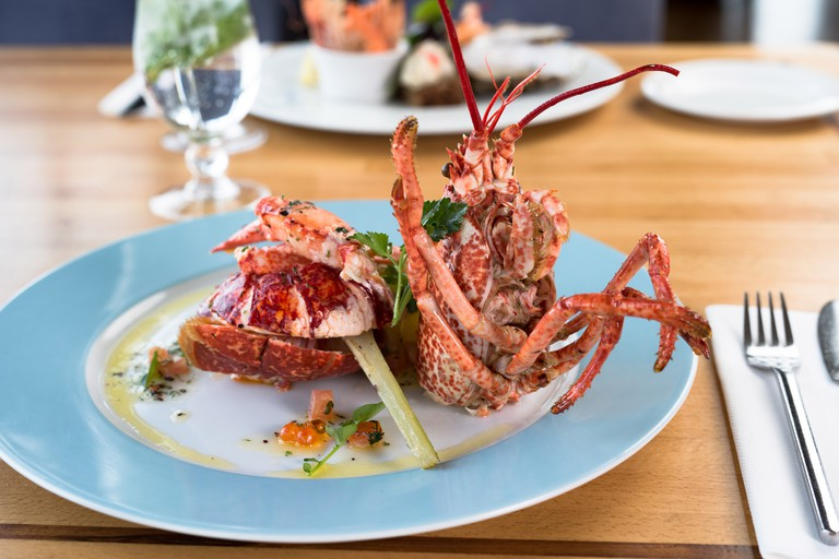 Aqua Restaurant specialises in contemporary seafood dishes
