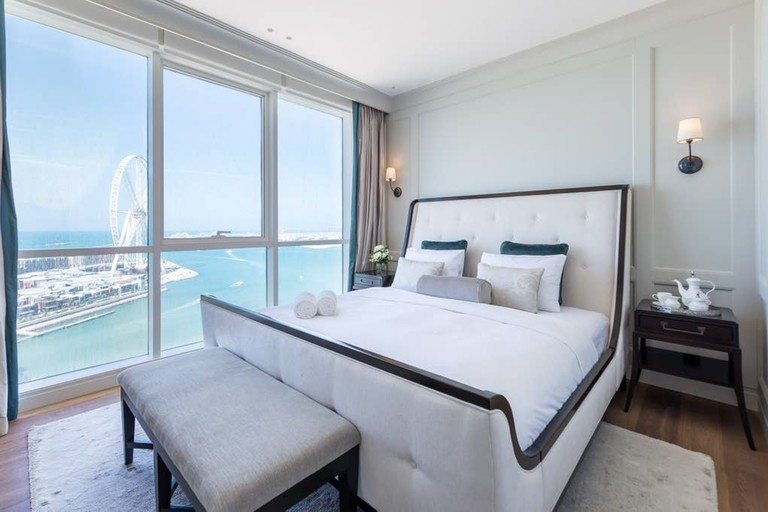 Enjoy a private beach in the ultra-exclusive JBR walk