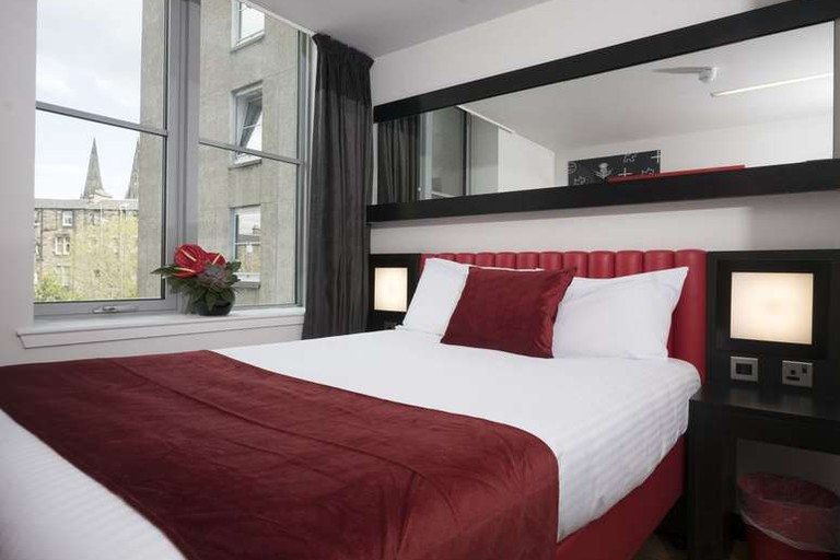 Guest room at Haymarket Hub Hotel
