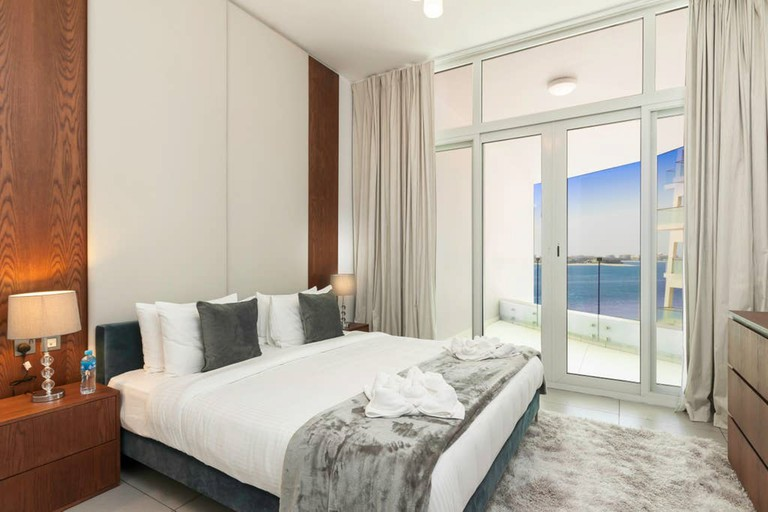 Opt for a seaside escape at this private one-bed apartment