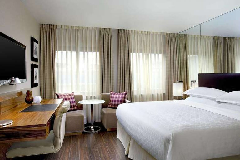 Guest room at Sheraton Grand Hotel and Spa
