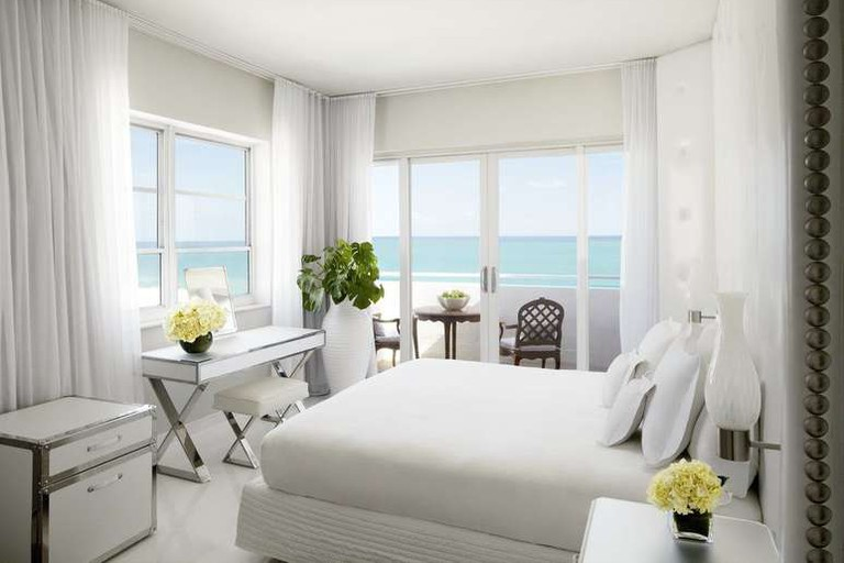Guest room at Delano South Beach