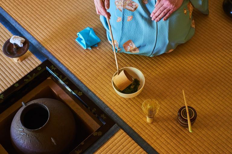 Tea ceremony, Kyoto.