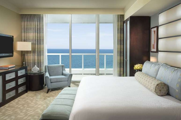 Guest room at FontaineBleau Miami