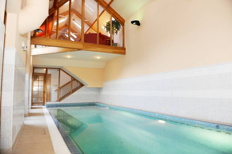 Swimming pool at this converted stableyard
