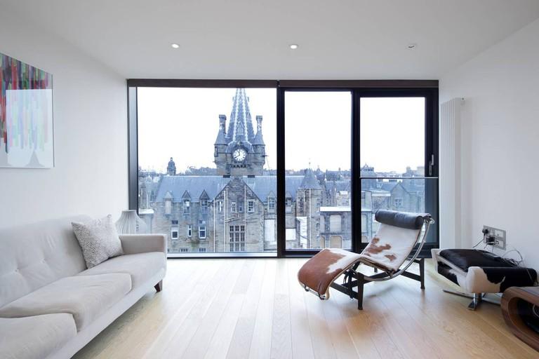 Modern flat with city views