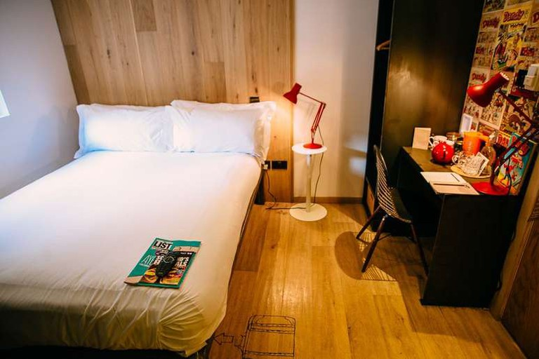 Guest room at Grassmarket Hotel