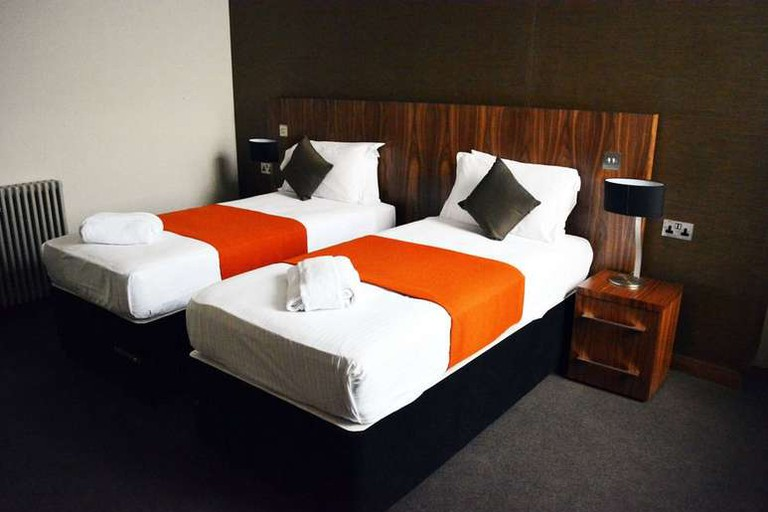The rooms at The Inn Place are minimalist in design