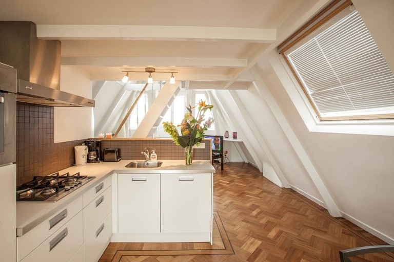 Amsterdam penthouse with view of Rijksmuseum