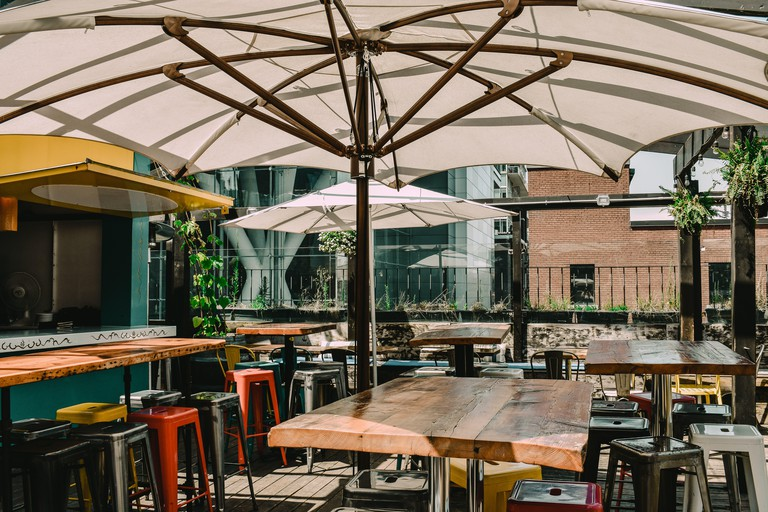 Barhop Brew Co.'s patio is extremely popular during the summer months