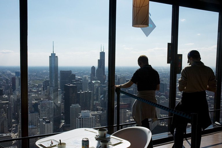 Observation deck, John Hancock Building, Chicago.