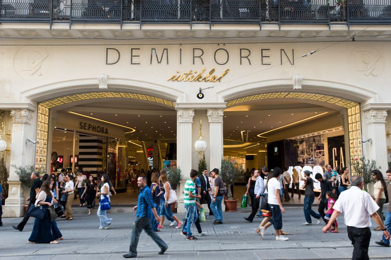 Demiroren shopping centre on Istiklal Cadessi, Istanbul, Turkey.