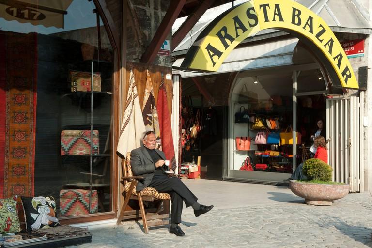 Turkei, Istanbul, Sultanahmet, Arasta Bazaar (turk. Sipahi Carsisi)