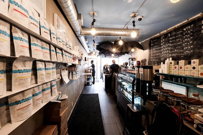 Interior at De Mello Palheta Coffee Roasters