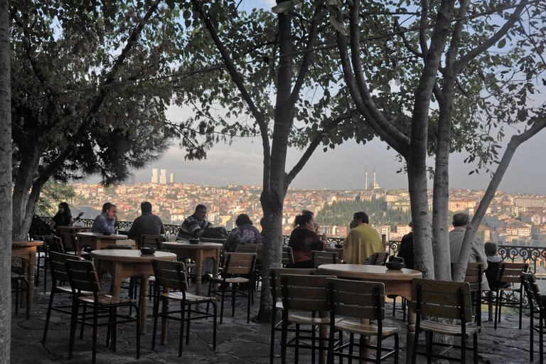 Cafe at Pierre Loti, Istanbul, Turkey.