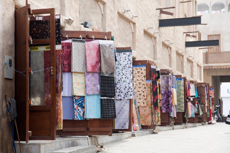 The textile souk sells rich cottons, satins, silks and tailor-made clothing