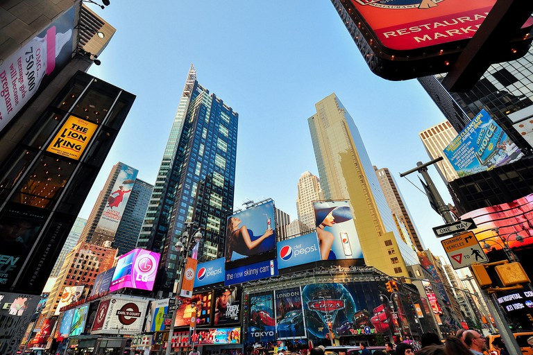 Times Square In Late Afternoon, Manhattan, New York, USA