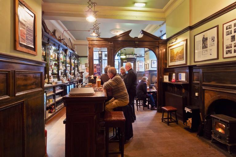 Interior view of the Sandy Bell's Folk Bar, Edinburgh.