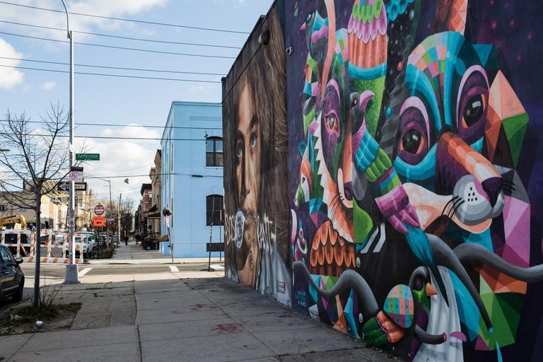 Street Art in Bushwick, Brooklyn. New York, USA. All art by The Bushwick Collective.