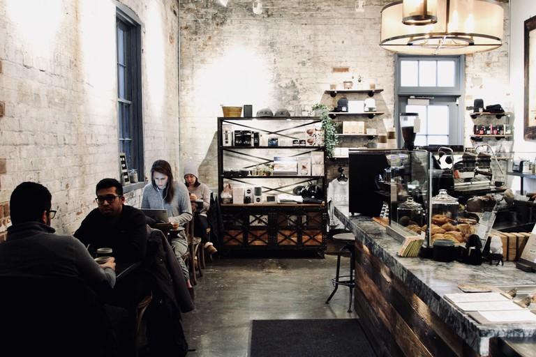 Interior of Arvo Coffee