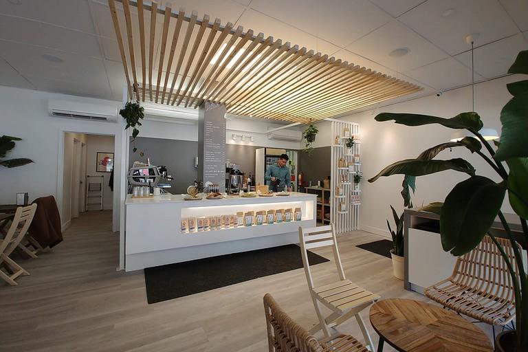 Interior of Rustle & Still Café