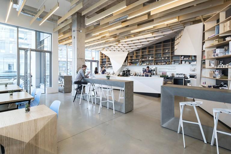 Interior of ODIN Cafe + Bar