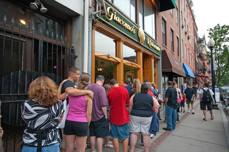 People line up for a taste of Giacomo's Italian food