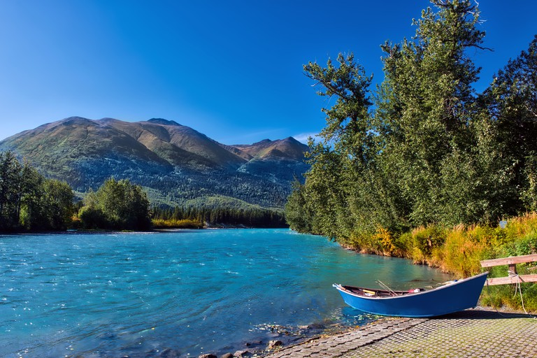 The Kenai River is fabled for its turquoise hue