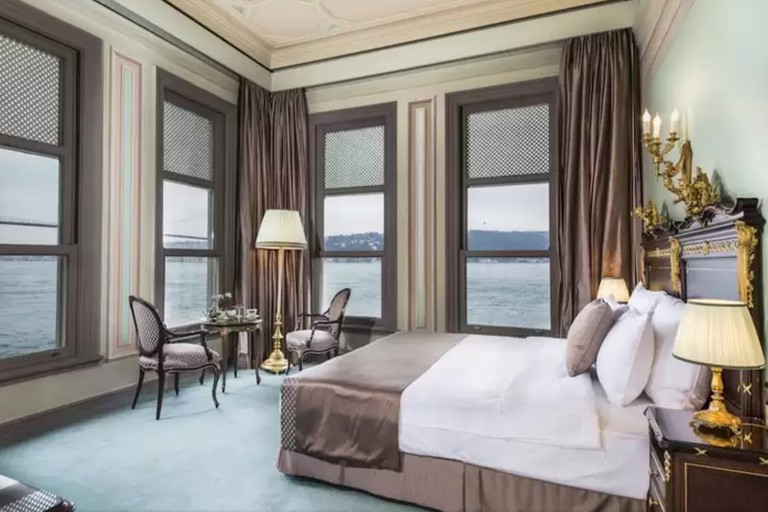 Each room at the Bosphorus Palace Hotel is filled with handcrafted Italian furniture