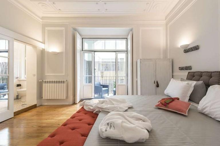 Some suites at Lisbon Inn Lapa Suites have a private balcony
