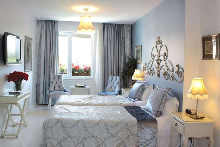 Guest room at Celal Sultan Hotel