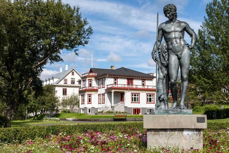 The sculpture garden exhibits some remarkable sculptures