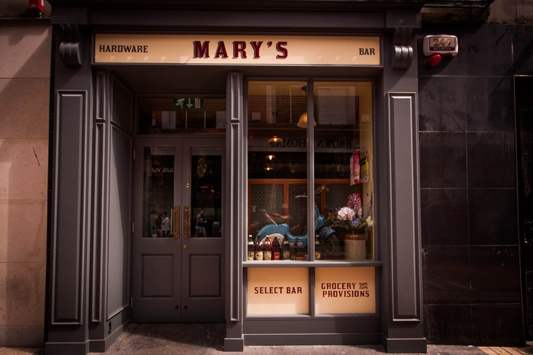 Exterior of Mary's Bar and Hardware