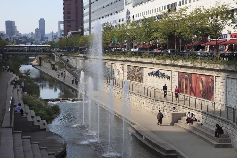 Cheonggyecheon Stream, Seoul, South Korea