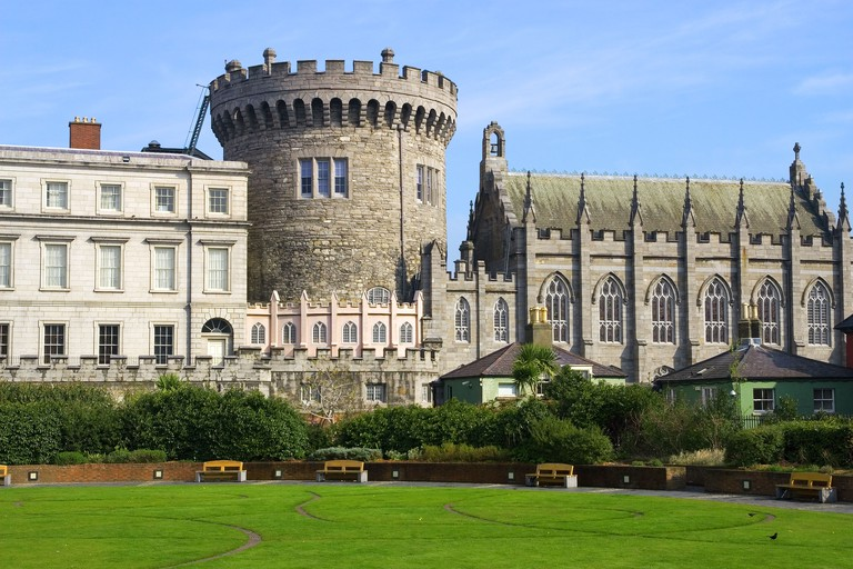 Dublin Castle in Dublin, Ireland.