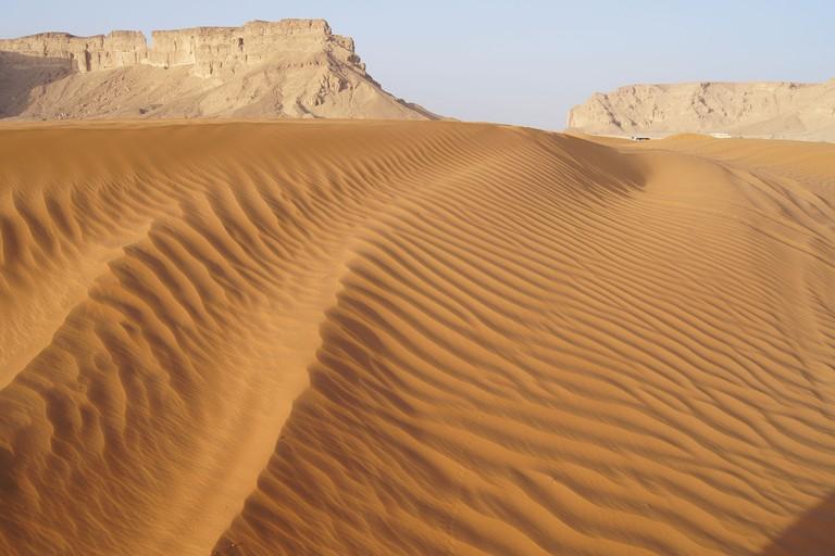 Sand dunes at the Red Sands, Riyadh, Kingdom of Saudi Arabia.