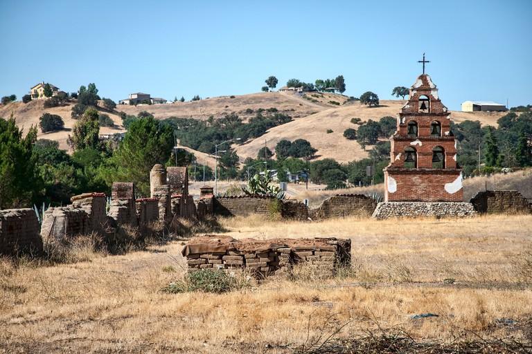 Mission San Miguel Arcangel near Paso Robles in San Luis Obispo County, California, United States