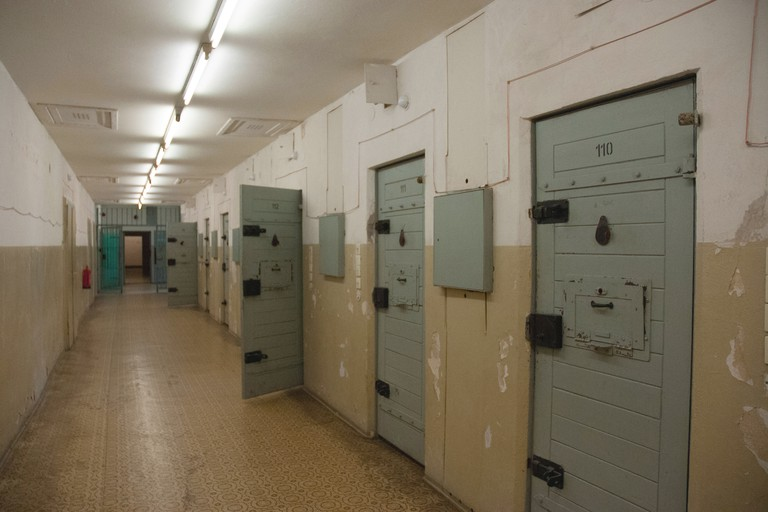 Inside Hohenschonhausen Prison, a secret Stasi detention center.