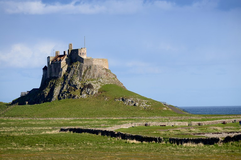 Lindisfarne Castle on Holy Island, in Northumberland.