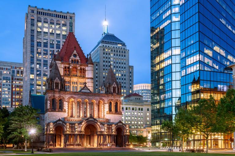 Trinity Episcopal Church, Copley Square, Boston, Massachusetts, America