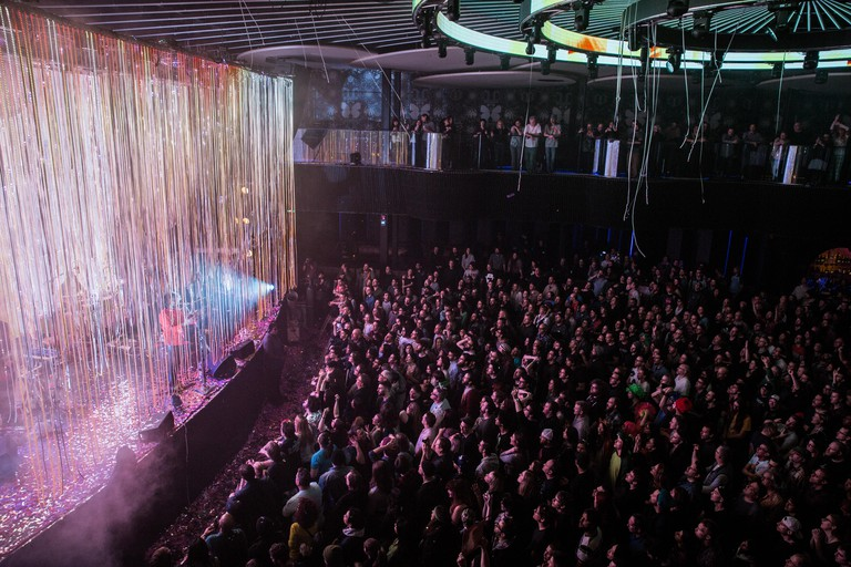 The Flaming Lips take to the stage at Rebel, one of the biggest nightclubs in Toronto