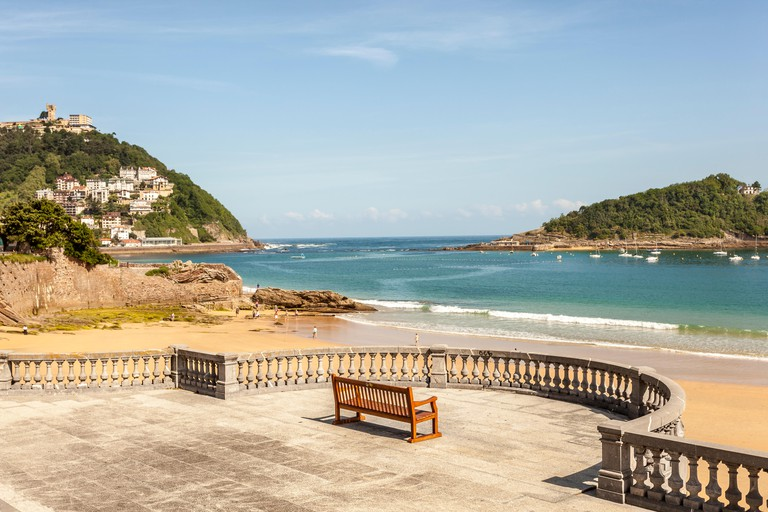 Promenade at the La Concha beach in San Sebastian