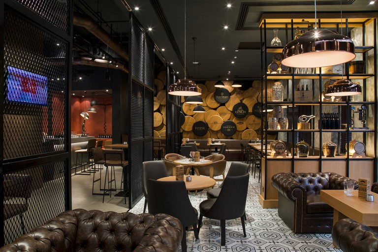 Interior of The Warehouse wine & tapas bar