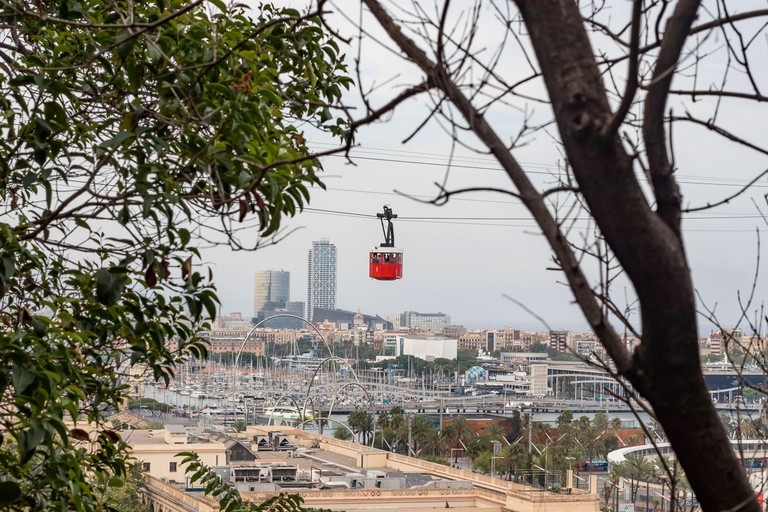 The Port Vell Aerial Tramway offers sweeping views of Barcelona and beyond