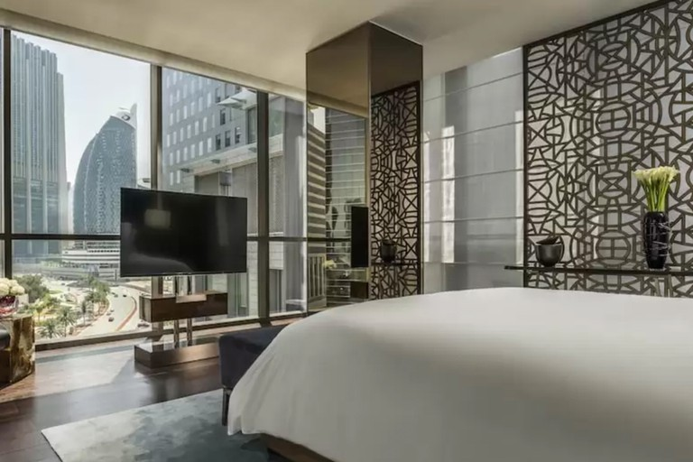 The rooms at Four Seasons Hotel Dubai International Financial Centre look out over the city