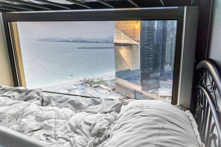Every room at Dubai Beach Host overlooks the beach