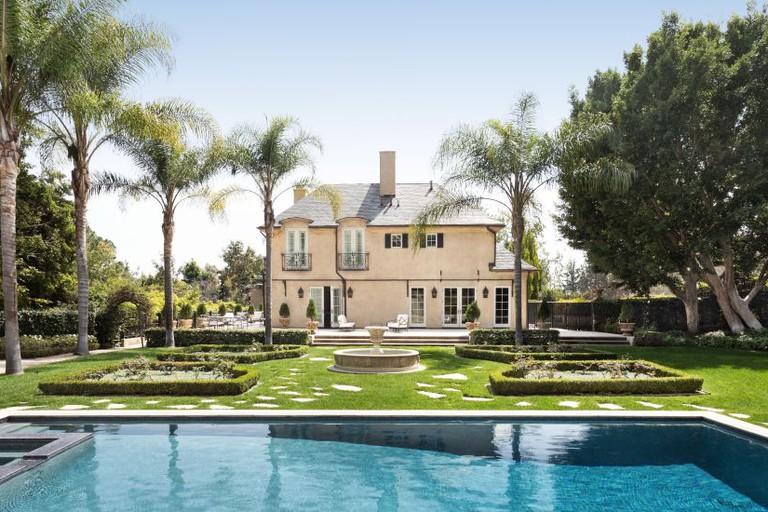 French villa in a Beverly Hills cul-de-sac