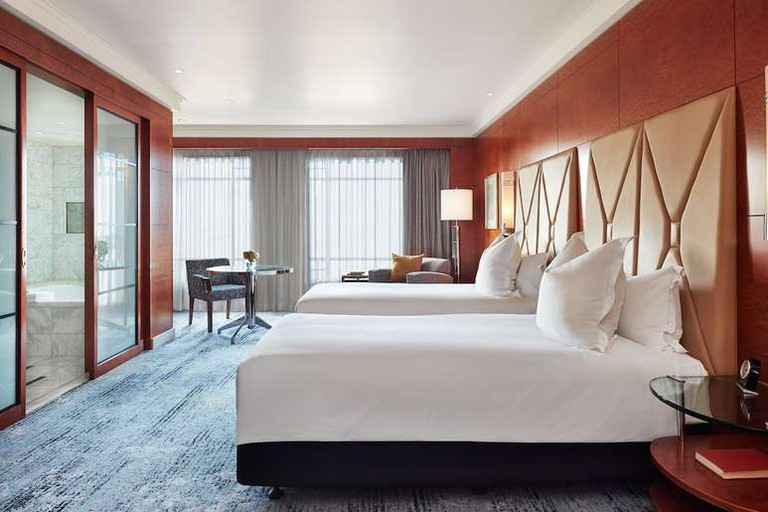 The rooms at the Park Hyatt Melbourne feature walk-in wardrobes