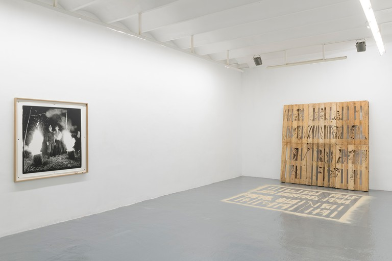 The adn galeria in Barcelona, showcasing work by Marcos Ávila Forero